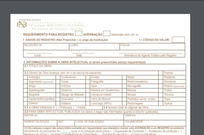 Preencha o formulário de registro conforme as orientações abaixo