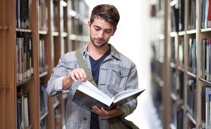 jovem estudante